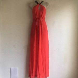ASTR Red Maxi Dress